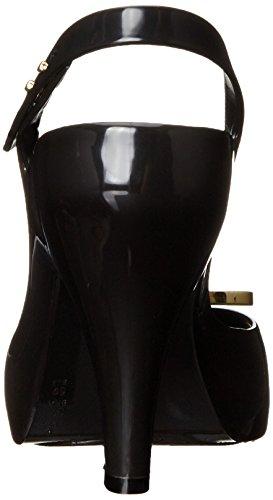 Vivienne Westwood & Melissa Lady Dragon, Chaussures à Talons avec Bride à L&RsquoArrière Femme, Noir Black (50919-Black Orb)