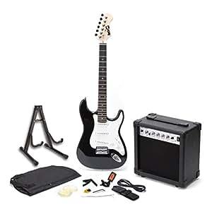 Rockjam Rjegpkg Chitarra Elettrica di Dimensioni Standard con Amplificatore, Accordatore, Capotasto, Plettri, Custodia da Viaggio e Accessori