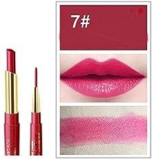 SBE Professional Natural Makeup 12 Colors 2 In 1 Lipstick + Lipstick Waterproof Lip Liner Long-Lasting Cosmetics Makeup Sets (#07)