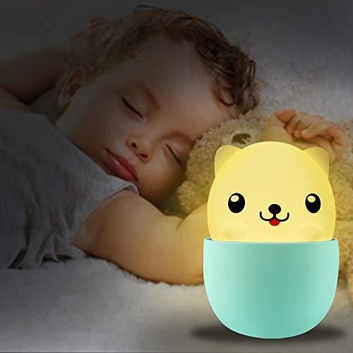 Nachtlicht Kind,LED Nachttischlampe Baby,Pomisty Schlafzimmer Baby Lichte Kinderzimmer Mini Tragbare Wiederaufladbare Nachttischlampe,Touch Lampe IP65 Wasserschutzgrad Dimmbares Weiß & Warm Licht