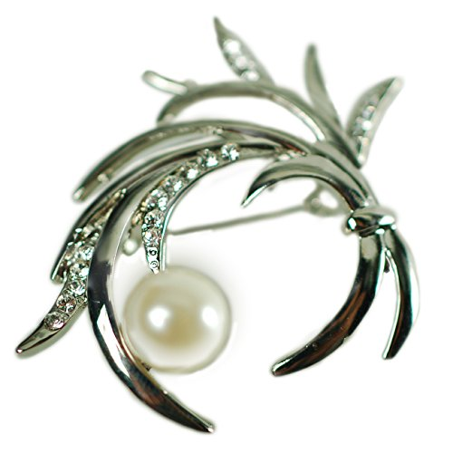 the-bouquet-vintage-costume-jewellery-brooch-pin-at-bargain-price-czech-crystals-ivory-pearls-timele