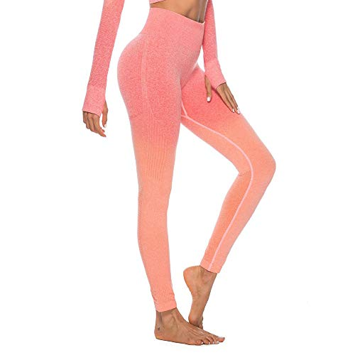 Felicove Damen Sport Leggings, Drucken Leggings Damen Fitness-Sporthose Gym Yoga Athletische Hosen Winterleggings Thermoleggings Workout Trainingshose Damen Sport Yogahose - Blau Damen Logo Crew T-shirt