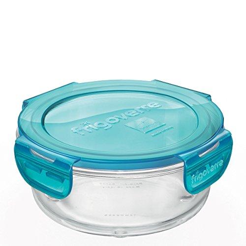 Contenitore per alimenti in vetro TEMPERATO conservare frigorifero freezer Bormioli Frigoverre Evolution 14cm diametro
