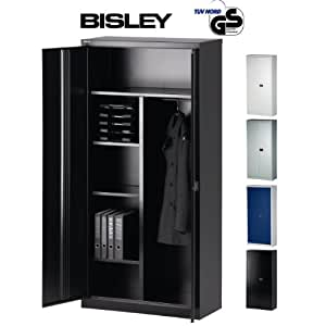 bisley aktenschrank garderobenschrank kleiderschrank aus metall abschlie bar stahlschrank. Black Bedroom Furniture Sets. Home Design Ideas