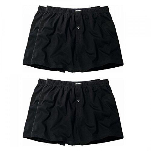 4 er Pack Ceceba Jersey Boxershorts Pant Unterhosen Herren schwarz Größen XL - 8XL, Grösse:XXXL - 9 - 58;Farbe:schwarz