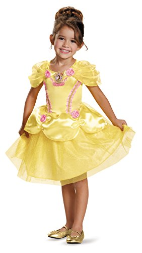 Disguise 82896L Belle Toddler Classic Costume, Large (4-6x) by Disguise