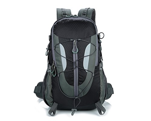 Lily's Locker - Zaino da Trekking 30 L con Scomparto per Laptop per Donna e Uomo Borse da Campeggio Viaggio Alpinismo Bicicletta e altre Attività (Nero)