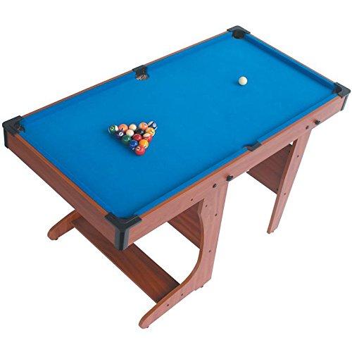 Riley PT20-46D tavolo da biliardo carambola pool (137 x 79 x 69 CM, pieghevole salvaspazio, 2 stecche, set completo per giocare)
