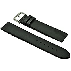 Fluco Leather Strap | Black | for Attachment with Screws for Skagen Watch | 22 mm | Made in Germany