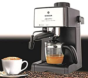 Singer Xpress Brew 800 Watts Coffee Maker - 4 Cups Espresso/Coffee Capacity Carafe