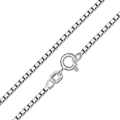 CLEVER SCHMUCK Set Silberner Taufring Ø 12 mm mit Einem Zirkonia weiß innen Engel herzförmig und Kette Venezia 38 cm Sterling Silber 925 - 3