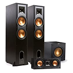 Klipsch 3.1 R-28F Reference Floorstanding Speaker Package with R-25C Center Speaker and R-12SWi 12 Wireless Subwoofer (Black)