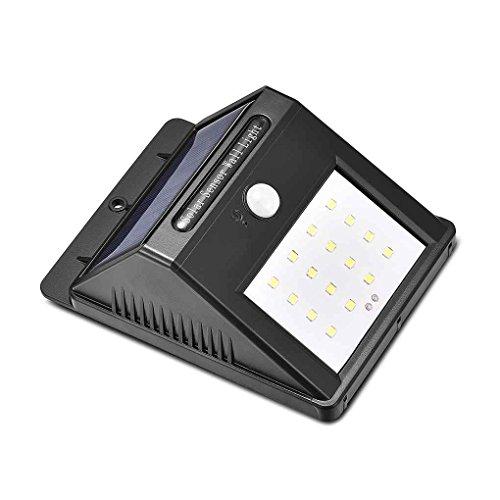 LUFA 16 LED Solar Power Licht Bewegungssensor Außenwandleuchten Wireless Security Schrittlicht Nacht Lampen
