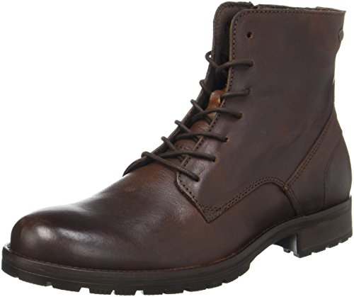Herren-stiefel (JACK & JONES Herren Jfworca Leather Brown Stone Klassische Stiefel, Braun (Brown Stone), 46 EU)