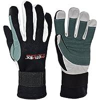 MOTIVEX Segelhandschuhe Neoprene ganze Finger, Handflächen verstärkt, Handschuhe für Wassersport, Segeln und vieles mehr