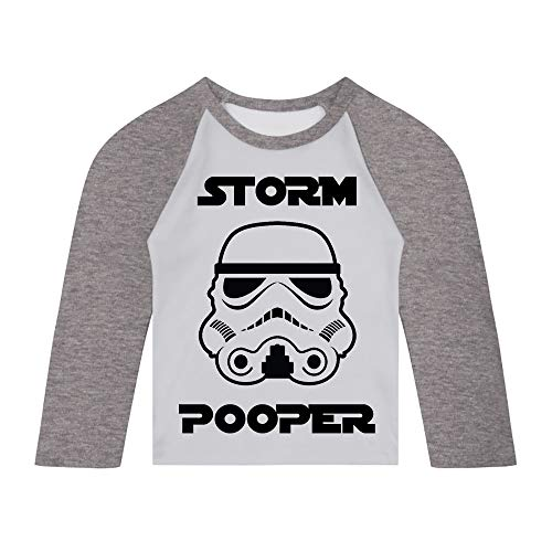 Original Stormtrooper Storm Pooper Baby and Toddler Baseball ()