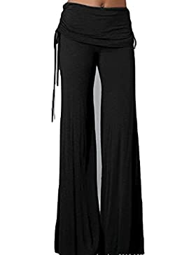 SYGoodBUY Pantalones de Verano de la Caída de Las Mujeres del Verano Pantalones Anchos de la Pierna Suelta Pantalones...