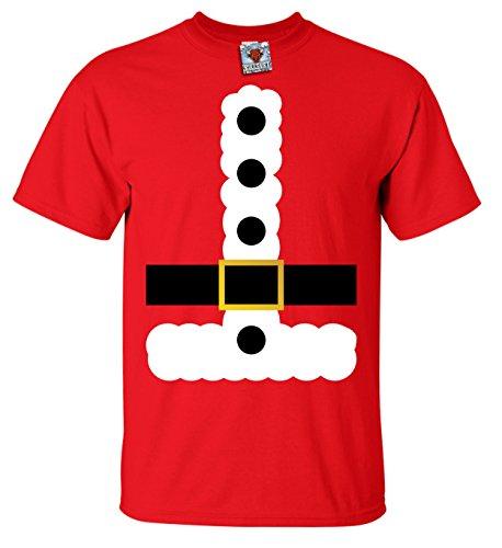 Bullshirt 's Herren 's Santa Claus Kostüm T-Shirt., rot, xl