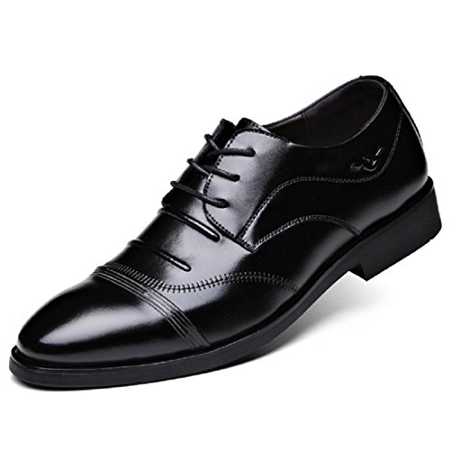 Uomo Il nuovo appuntito Scarpe di pelle Attività commerciale Vestito formale Scarpe pompe Leggero Confortevole euro DIMENSIONE 38-44 Black