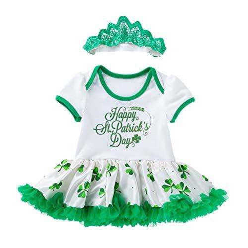 Irish Stirnbänder Dance Kostüm - A-Artist Baby Kleid Tutu Flying Sleeve Clover St. Patricks Day Irish National Day kasachischen Rock + Stirnband Für Geschenke