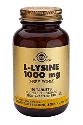 Solgar-L-Lysine 1000 mg- 50 Tablets from Solgar Vitamins and Herbs