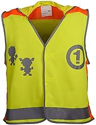 Panegy Enfant Gilet de Sécurité Réfléchissantes Haute Visibilité Veste Réfléchissante pour activités en plein air Light-Reflecting Waistcoat Jaune Fluorescent (S/pour 3-6 Ans)