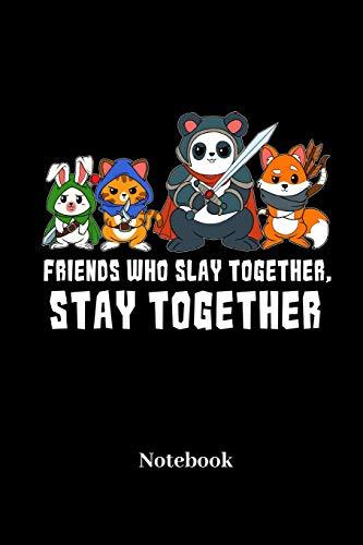 Friends Who Slay Together, Stay Together Notebook: A5 Punktraster 120 Seiten Notizbuch für Fantasy I Rollenspiel I Würfel I Brettspiel I Drachen I ... - Notizheft I Klatte I Taschenbuch I Geschenk