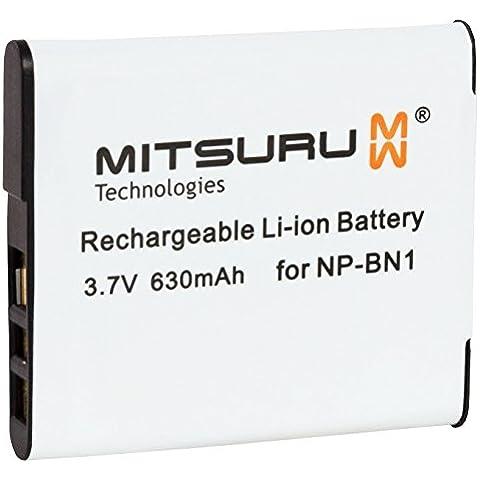 Mitsuru 3,7 V, 2 W, batteria originale per fotocamera Sony Cybershot DSC-W570/DSC-WX10 fotocamera