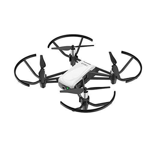DJI Ryze Tello Combo - Dron pequeño ideal para hacer videos cortos, 720p Transmisión en HD, 2 antenas, 3 hélices de reemplazo, 1 estación de carga, blanco