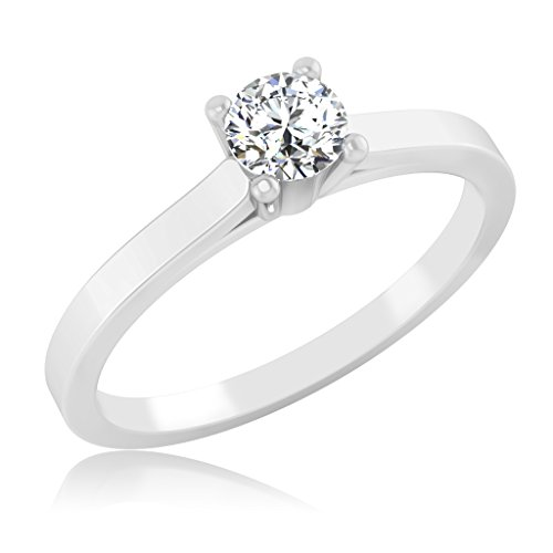 IskiUski Silver Diamond Rings For Girls And Women In American Diamond CZ Ring Jewellery