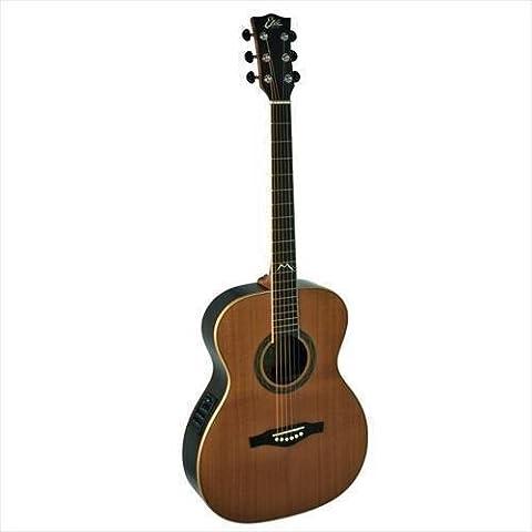 EKO Mia Plus 018EQ NATURAL–Guitarra electroacústica, tapa de cedro macizo)