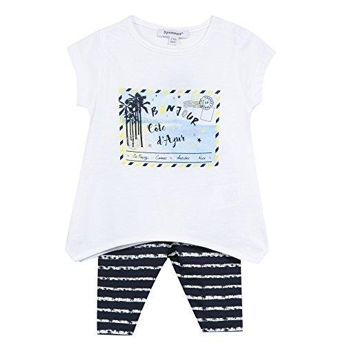 3 Pommes Baby-Mädchen Unterwäsche-Set French Riviera 2 Bleu (Bleu (Bleu Navy)), 6-9 Monate
