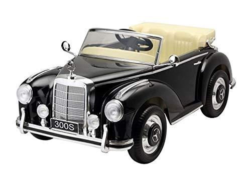 Mercedes Benz 300s Coche eléctrico para niños, con Licencia Oficial y con Mando a Distancia para Control Remoto, 12 v, Color Negro