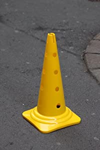 agility sport pour chiens - cône avec trous, 50 cm, jaune - 1x MZK50y
