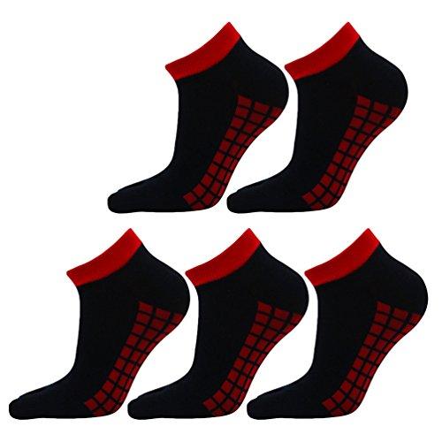 YouPue Sommer Unisex Toe Socken Low Rise Zehensocken Freizeit Sport Sneaker Und Herren Socken Bunte Streifen Casual Breath 5 Paar 39-44