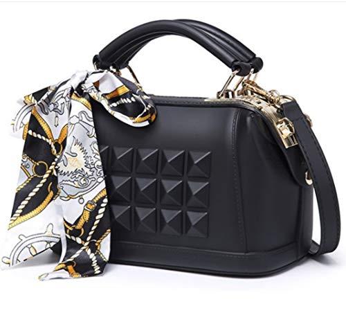 BABAYD Womens Handtaschen Schultertaschen, PU Leder Damen Shoulder Bag Fashion Tote Tasche Casual & Work, Black