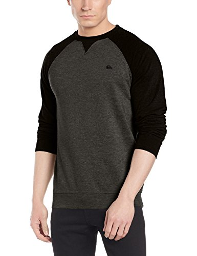 Quiksilver EQYFT03427 Everyday Felpa, Dark Grey Heather, L