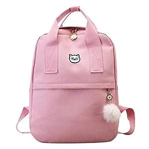 41HMqzNdc8L. SS300  - Mochila OneMoreT para mujer, para la escuela, adolescentes, niñas, estilo vintage, para la escuela, mujer, lona, mochila…
