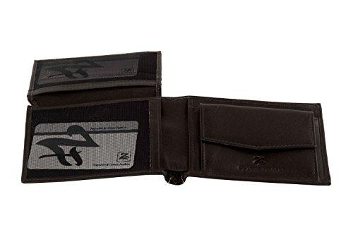Portemonnaie Mann ZIPPO FASHION moro aus leder mit Geldbörsen und klappe A4413 (Männer Geldbörse Zippo)
