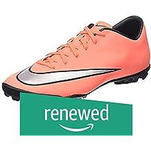 (Renewed) Nike Men's Mercurial Victory V Tf Brght MNG/Mtllc Slvr/Hypr TRQ Turf Soccer Shoe 10 Men US