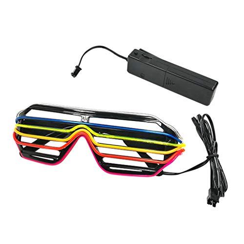 Storerine Leuchtende Gläser, LED-Gläser, Partybrillen Verrückte Mode LED-Brille leuchten Shades Flashing Rave Hochzeitsfeier -