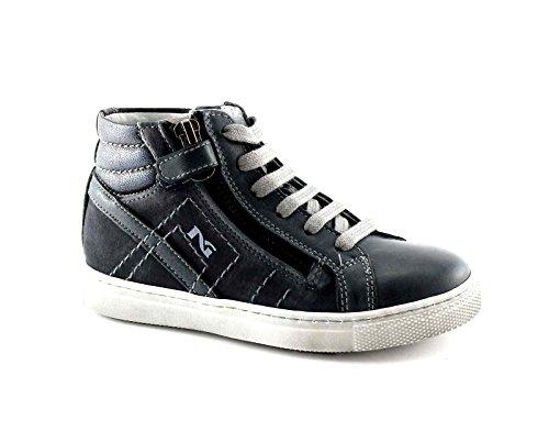 BLACK GARDENS JUNIOR 34000 Blue-Baby-Schuhe Mitte Reißverschluss Sneaker Schnürsenkel Blu