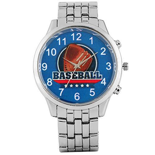 Kreative Baseball-Handschuhe Muster Zifferblatt Armbanduhr für Männer, Exquisite Quarz-Analoguhren für Herren, Mode arabische Ziffern Zifferblatt Design Armbanduhr für Teenager -