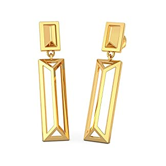 BlueStone 22k (916) Yellow Gold Fenced Drop Earrings