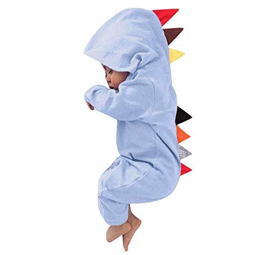 Beikoard Neugeborenes Baby Jungen Mädchen Kleinkind Dinosaurier Reißverschluss mit Kapuze Spielanzug Overall Ausstattungs Kleidung Baby Kleidung Set Neugeborenes (Neugeborene Halloween-kostüm-ideen Für)