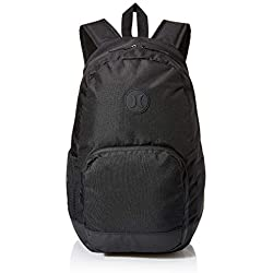 Hurley M Blockade II Solid Backpack Mochilas, Hombre, Black/White or Newsprint, 1SIZE