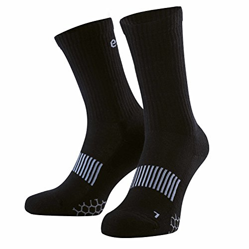 Eono by Amazon - Performance Sportsocken (3er-Pack), Unisex, Farbe: Schwarz, Größen: UK 6-8, EU 39-42 -
