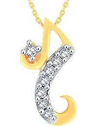 Asmi jewellery buy asmi jewellery online at best prices in india asmi yellow gold and diamond pendant for women aloadofball Choice Image