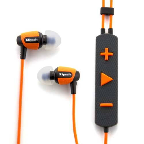 Klipsch Image S4i Rugged In-Ear Headphone with Mic (Orange)  available at amazon for Rs.15599