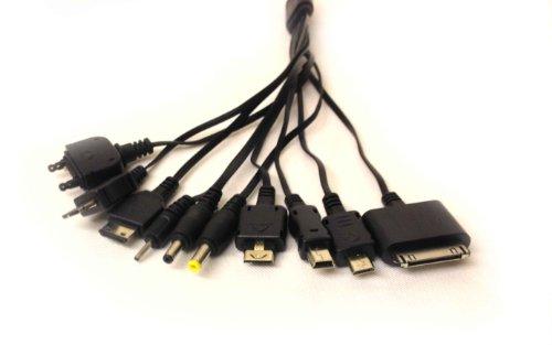 10 in 1 USB 2.0 Ladekabel (kompatibel mit iPhone, iPod, Nokia, Samsung, HTC, LG, Sony PSP, Kodak Kameras und vielen anderen Handys und PDAs) Lg Mobile Pda